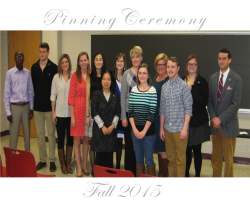 MLS Pinning Ceremony (Fall 2015)