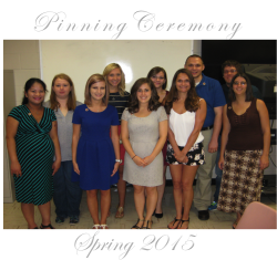 MLS Pinning Ceremony (Spring 2015)